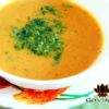 Суп-пюре с сыром и помидорками