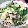 Салат с цветной капустой и базиликом